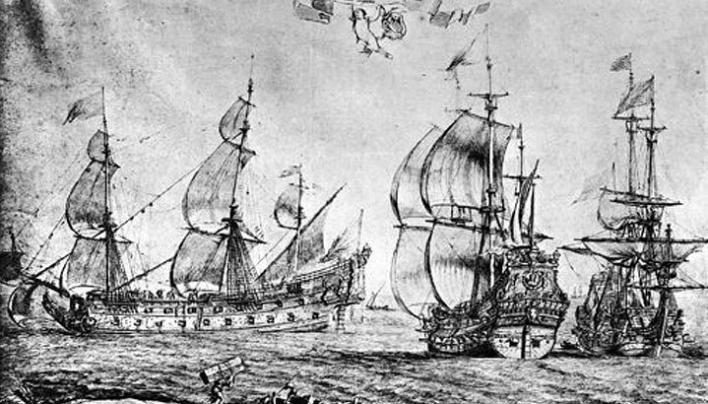 Le naufrage de la LUNE (1664), de retour de Gigeri (Barbarie)